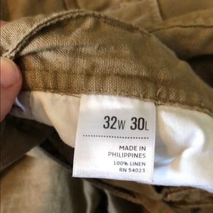 Old Navy Pants - Only worn ONCE...Linen Khaki Draw String Pants